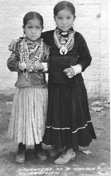 The Navajo instill jewelry wearing at an early age.