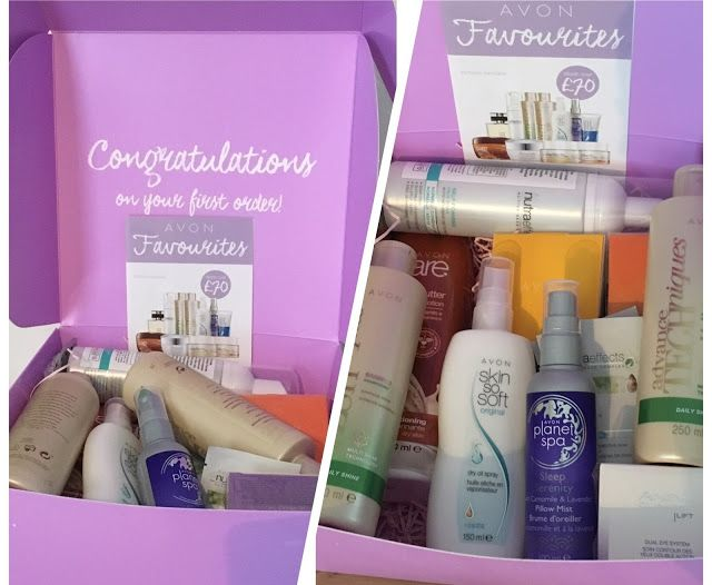 My first Avon Delivery! Filled with goodies and freebies from nail varnishes to foundation, hair care products to PJs! Plus Avon give New Representatives over £300 of free products!