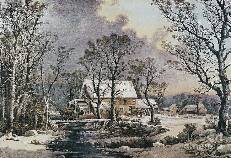 currier and ives christmas puzzle | Currier & Ives: Winter Scene Photograph - Currier & Ives: Winter Scene ...