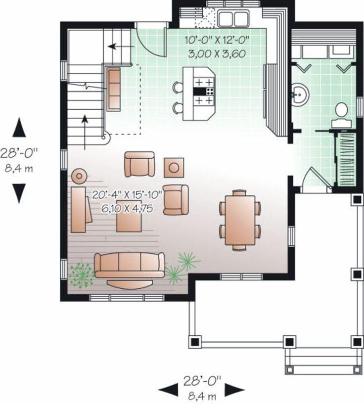 farmhouse style house plan 2 beds 15 baths 1322 sqft plan 23 - Cottage Plans Farmhouse Style
