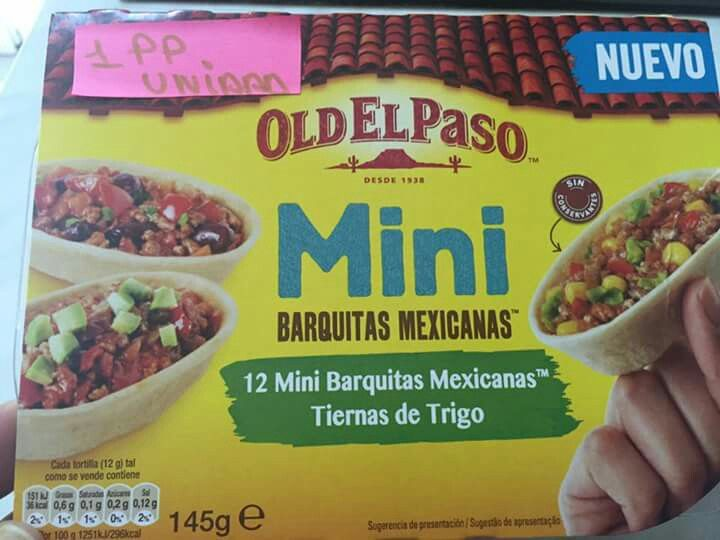Mini barquitas mexicanas Old El Paso
