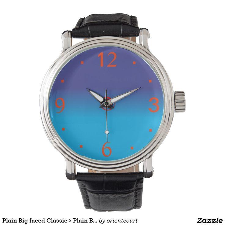 Plain Big faced Classic > Plain Blue Watches