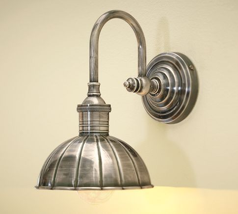 Vintage Single Sconce Single Vintage Pewter Finish Love
