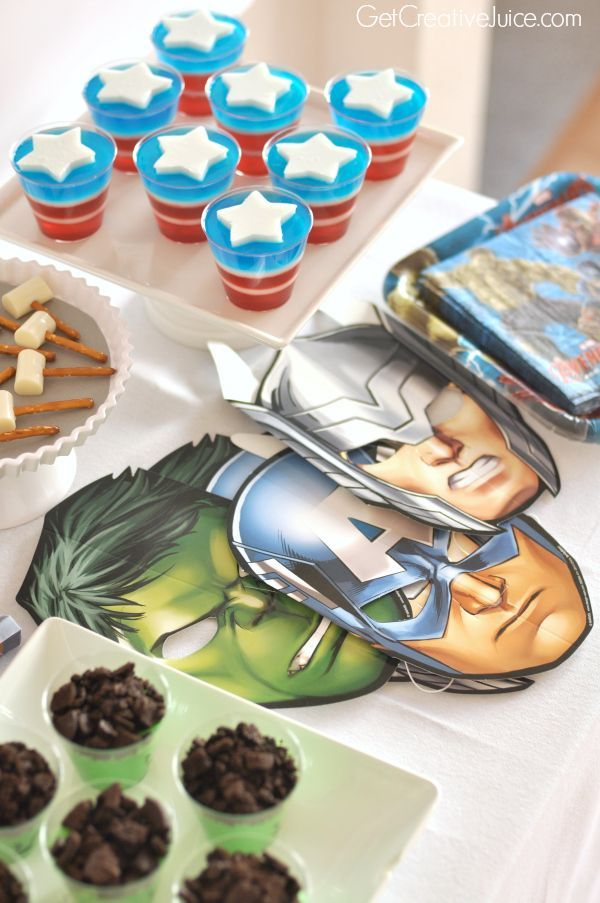 Avengers Party Ideas - So many ideas! Favors, food, decorations, activities and more