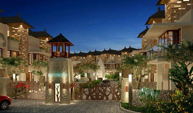 Курорты Индонезия Bali Отель Дизайн Города 3D_Графика