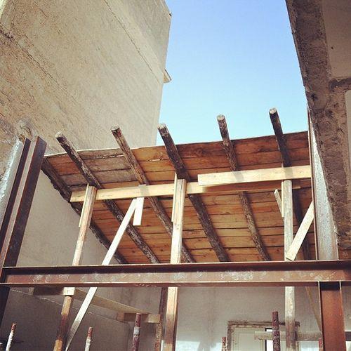 #Casa/Studio_ROS  #Sopralluogo di #cantiere prima della #pausa #estiva - #Casa/Studio_ROS #ristrutturazione #struttura #telai #travi #pilastri in #acciaio #HEA220  #Site #inspection before the #summer #break. - #House/Studio_ROS #renovation #structure #fr