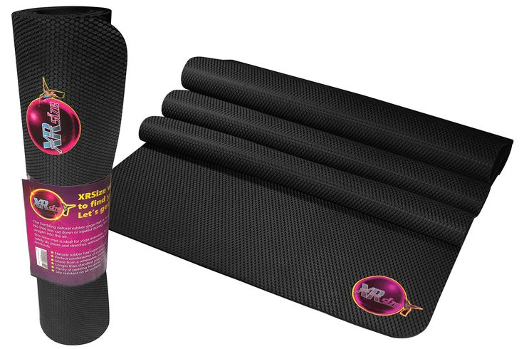 XRSize Natural Organic Tree Rubber and Pilates Yoga Mat, 72-Inches with Instructional DVD. PATENTED POWERGRIP TECHNOLOGY - Downward dog will never be the same again! Our patented technology provides unsurpassed grip & traction for difficult poses. Hold poses longer, improve your form, and reduce fatigue. Stop sliding all over your best yoga mats and experience yoga the way it was meant to be. NATURAL TREE SAP RUBBER - Our mats are made of only the finest ECO-Friendly Natural Organic tree...