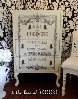 4 the love of wood: THANK YOU GRAPHICS FAIRY - french bath cabinet