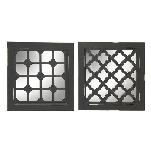 found it at wayfair 2 piece wood and mirror wall decor set