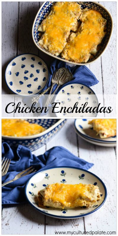 Chicken Enchiladas are so easy to make at home - you will wonder why you haven't tried them before! Using homemade chicken broth adds a nutritional punch!