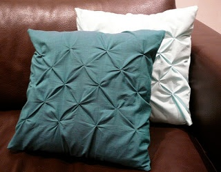 Pillows with smocking