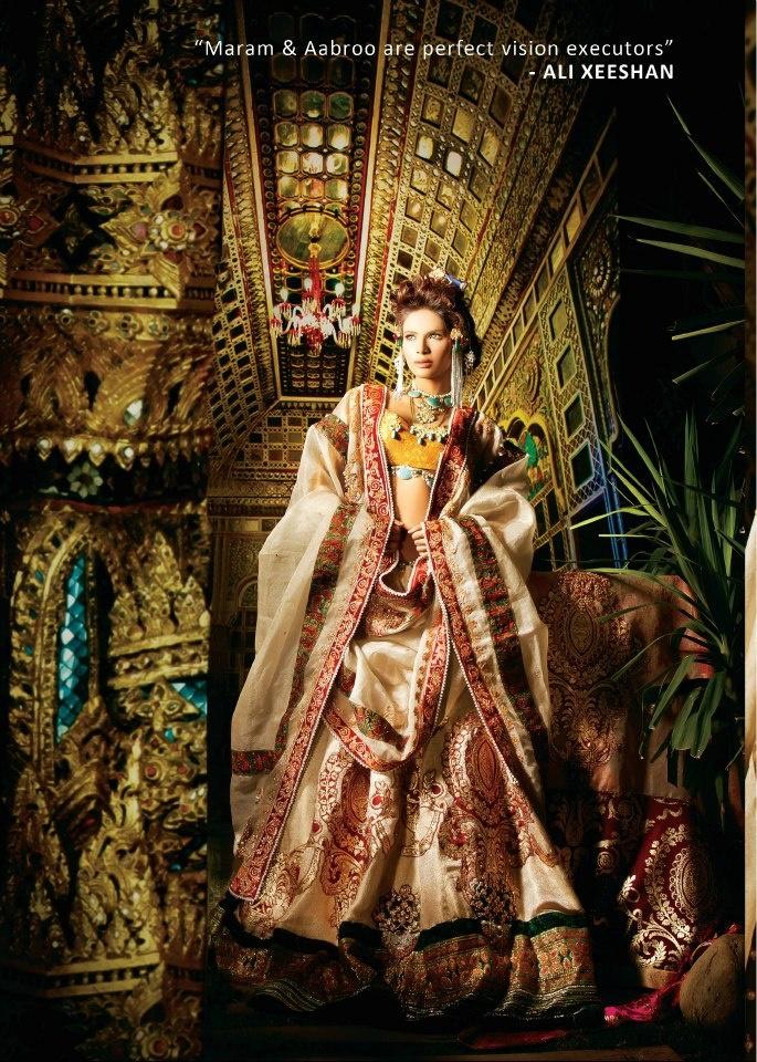 Designer: Ali Xeeshan  Model: Neha Ahmed