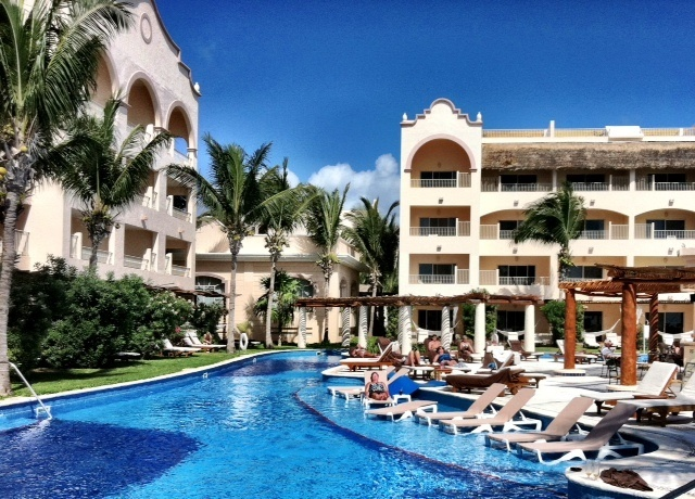 Excellence Riviera Maya resort where we stayed to celebrate our 30th