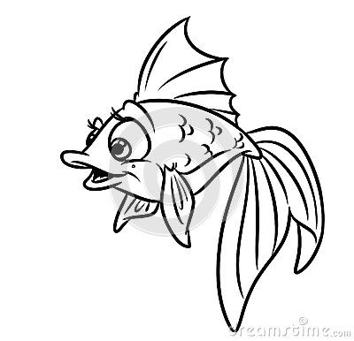 Gold Fish Coloring Pages Image Animal Character