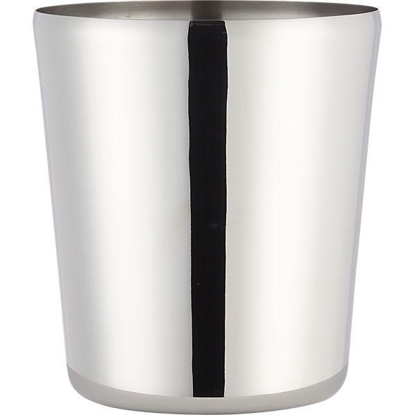 duke stainless steel champagne-wine bucket  | CB2
