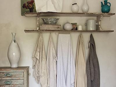 Inspiration for little collectionsOpen Shelves, Bathroom Colors, Rustic Bathroom, Interiors Design, Towels Racks, Bathroom Ideas, House, Bathroom Shelves, Dreamy Bathroom