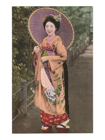 Geisha with Parasol Julisteet AllPosters.fi-sivustossa