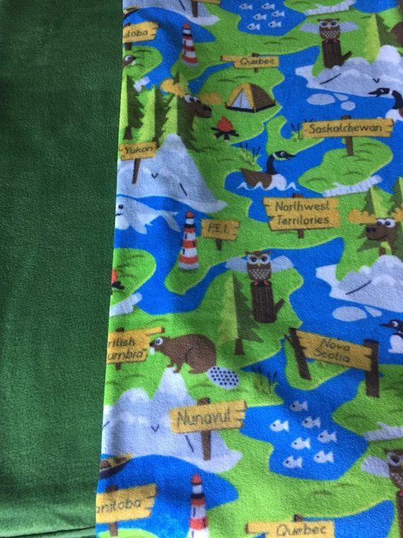 Cozy Canada provinces fleece tie blanket/baby by BriersBlankets