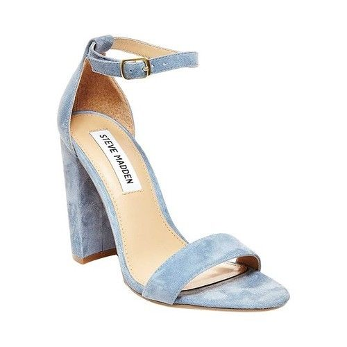 Steve Madden Women's Carrson Ankle Strap Sandal, Dusty Blue