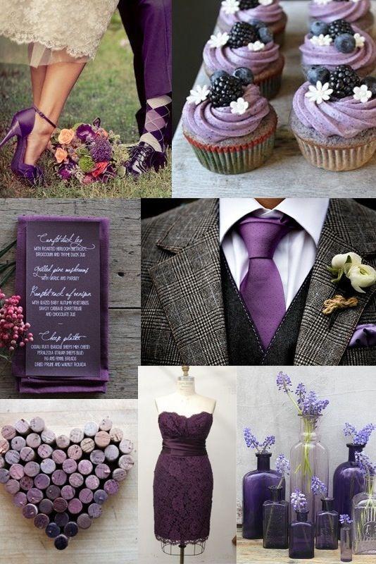 #TuFiestaTipBoda -Conoce como se podrá ver tu boda en color morado una opción más!