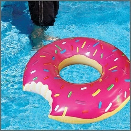 Pool Float Party Water Toy Raft Inflatable Summer Fun Donuts Pools
