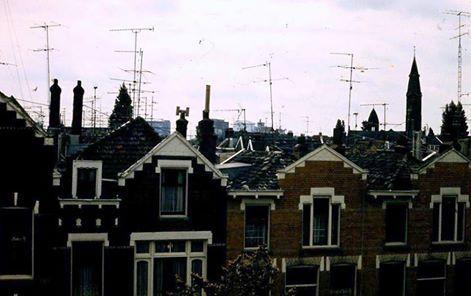 Televisie antennes, elk huis zijn eigen antenne