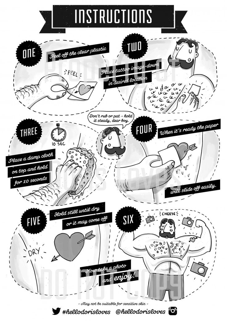 Doris Loves - Temporary Tattoo Application Instructions