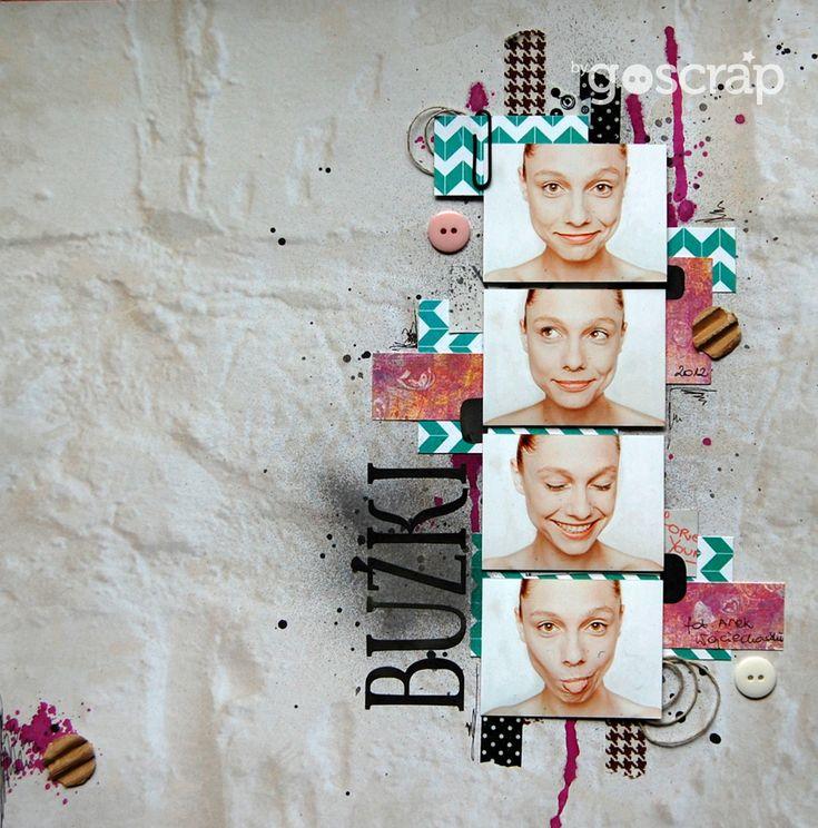 faces layout by clos // GOscrap.pl #scrapbooking