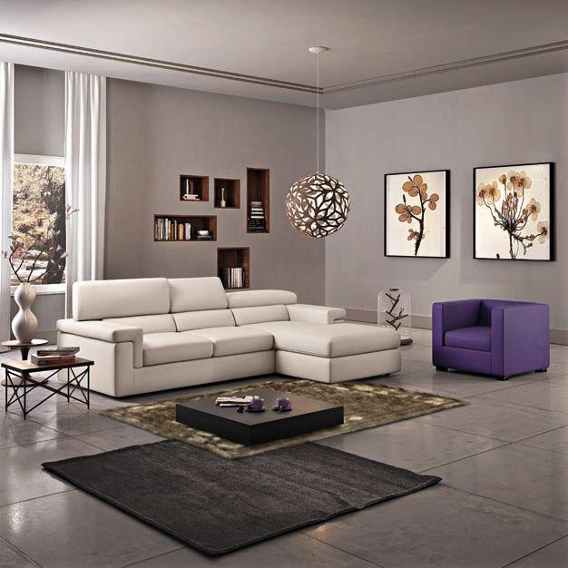 Poltronesofà: MALIA  Disponibile nella versione 4 posti maxi seduta lunga L:260cm. P:176cm. H:92cm