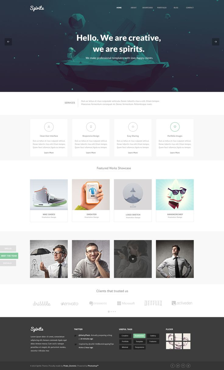 Spirits - PSD Template