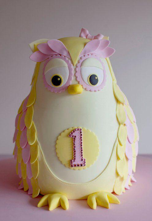 Owl cake -- cute!