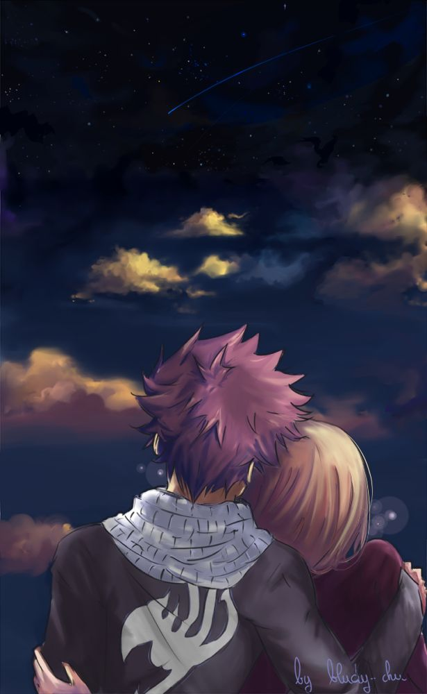 (Lucy) Make a wish. (Natsu) Don't need to, you're already here.