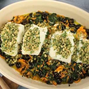 Image for Ugnsbakad torsk med spenat och pinjenötter