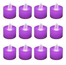 12 ct. LED Flickering Lights- Purple