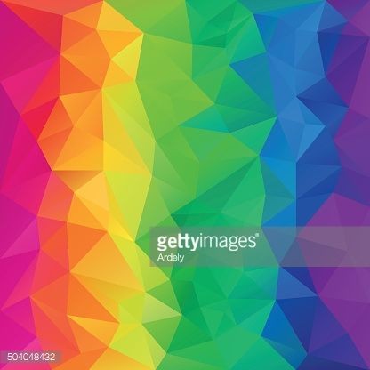 Rainbow Spectrum Abstract Polygon Background Vector Art   Getty Images
