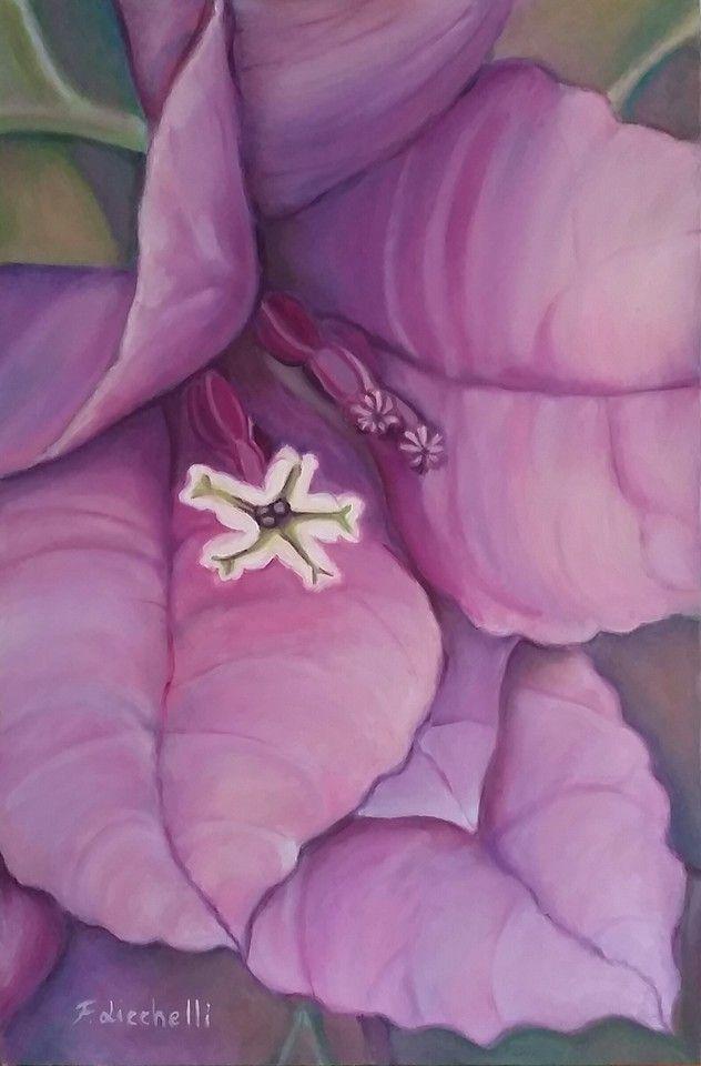 """Piccolo fiore"" - dipinto originale - olio su tela - misure: 40 x 60 cm. - anno: 2015 #art #artwork #paintings"