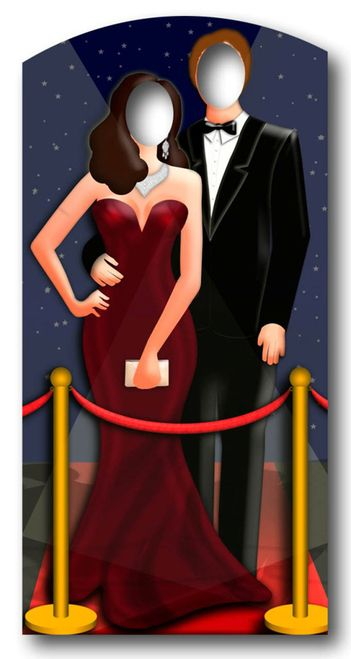 Red-Carpet/ Hollywood Couple Stand In - Lifesize Cardboard Cutout /