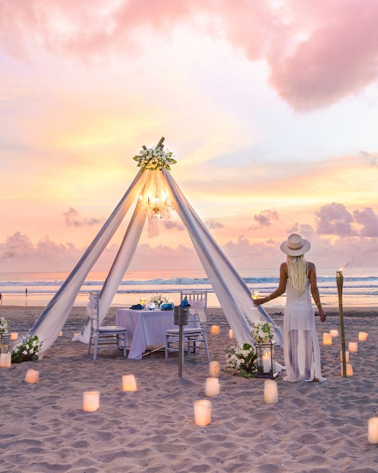 Romantic sunset dinner at Azul Beach Club, Bali  GypsyLovinLight  Bobby Bense