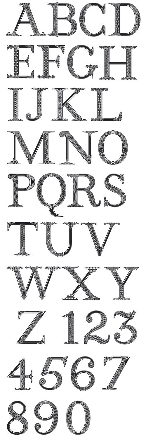 Editorial Design-- typography. Money Alphabet by the amazing Marian Bantjes for Fortune magazine