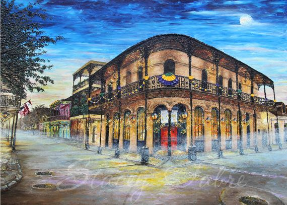 St Germain House  matted to fit 16x20  PRINT by StaceyFabre - Houma, LA impasto artist