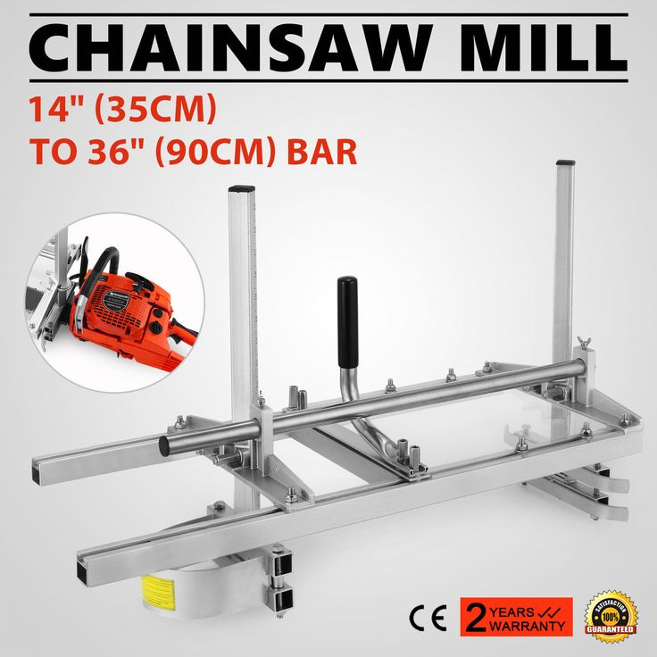 """Portable Chainsaw Mill Planking Milling From 14"""" to 36"""" Guide Bar. 1 X Portable Chainsaw Mill Planking Milling 14""""-36"""". to 12in. No bar drilling is necessary; the MK III clamps onto the chain bar. 
