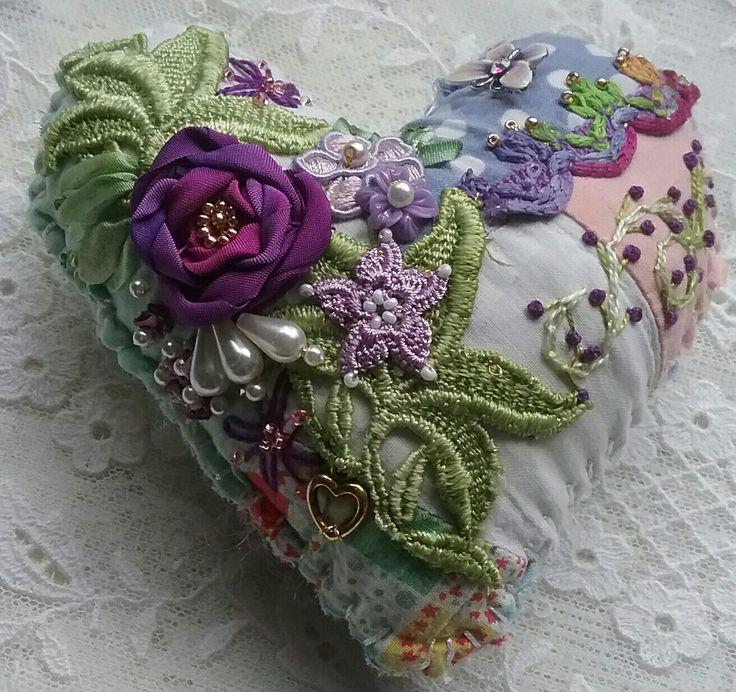 Crazy quilt heart, Nicki Seavey -  Raviolee Dreams