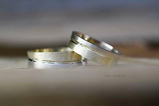 Dvojfarebné obrúčky / wedding rings