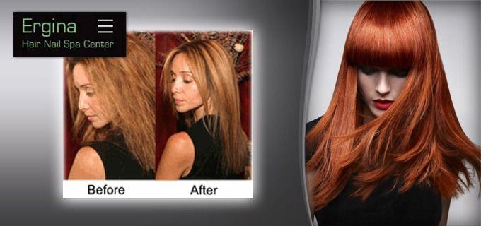 Εφαρμογή Brazilian Keratin Nanokeratin για ίσιωμα μαλλιών διάρκειας 6 μηνών και για λαμπερά μαλλιά με μεταξένια υφή! Από το πλέον έμπειρο και εξειδικευμένο προσωπικό, στο κατάστημα Ergina Hair Nail Spa Center, στον Άγιο Δημήτριο (πλησίον μετρό Δάφνης και μετρό Αγίου Δημητρίου), Μόνο 79€ από 250€, Έκπτωση 68%!