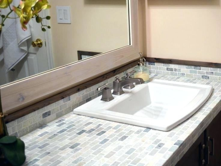 Bathroom Countertop Ideas Tiled Countertop Bathroom Tile Countertops Bathroom Countertops