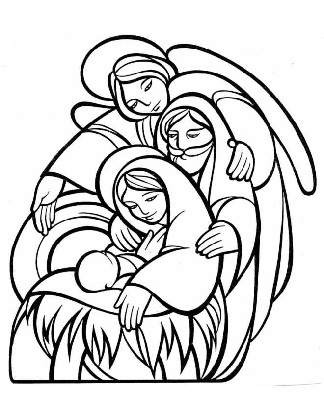 Disegno Di La Sacra Famiglia Da Colorare Colori Di Natale