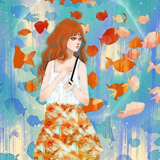 Fish in the rain 魚と雨
