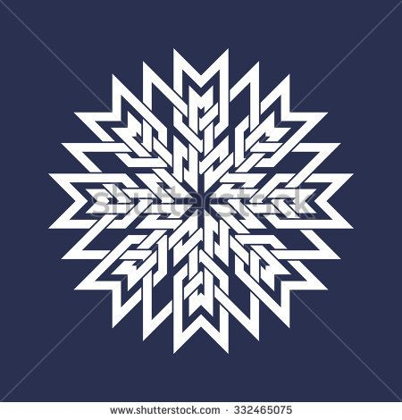 japanese circular patterns | Circular pattern in Asian intersecting lines style. White eight ...