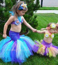Mermaid Halloween Costume Tutu Size 024M - 2015 Halloween for Kids - LoveItSoMuch.com