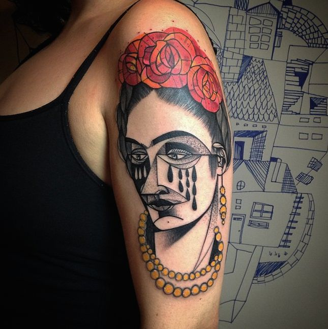 This Cubist tattoo is the coolest.